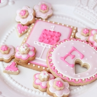 Pretty In Pink Cookies I was so happy to contribute these cookes as well as a little cake and some pops for an adorable Pretty in Pink themed party. See all of...