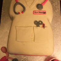 Nurse Scrubs Grad Cake Did this cake for a girl that just graduated nursing school