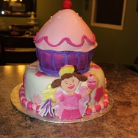 Pinkalicious   Did this cake for my daughters 6 th bday,
