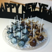 New Years Brownie Pops Chocolate Chunk Brownie Pops covered with white or milk chocolate and sprinkles