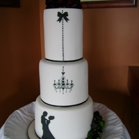My First Wedding Cake my version of cake lady cakes silhouette cae=ke