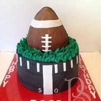 Football Cake For A Fan Of University Of Georgia   Football cake for a fan of University of Georgia.
