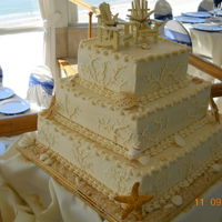 Beach Wedding Cake Whitechocolate Layers And Carrot Layer All Bc Shells Are Gumpastefondant From Self Made Molds Topper Purchased By B beach wedding cake. White/chocolate layers and carrot layer. All BC. Shells are gumpaste/fondant from self made molds. Topper purchased by...