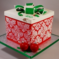 Christmas Package Cake