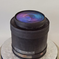 Camera Lens Groom's Cake I met with a couple recently who had their heart set on a sculpted camera for their groom's cake. But their budget wasn't...