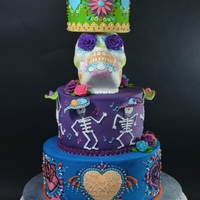 Day Of The Dead Wedding Cake I made this cake as a wedding cake for a bride back in MARCH! As clients they were extremely fun and easy to work with. Needless to say, it...