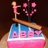Abby's Gymnastics Birthday Cake