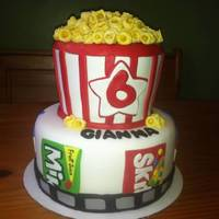 Gianna's Movie Birthday Cake