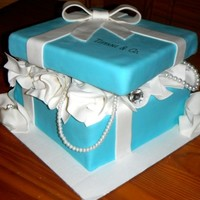 Tiffani's Tiffany Bridal Shower Cake