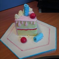Piece Of Cake, Cake Idea from a book I have. Sugarpaste modelling.