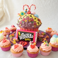 Giant Cupcake Sweetie Cake Candy shell, lots of sweets!!
