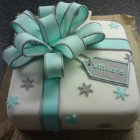 Gift Box Cake Cake I did for work. Rich fruit, scratch marzipan, sugarpaste.