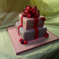 Present Cake Pink & purple theme for 21st Birthday