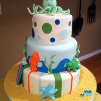 Octopus Baby Shower Cake