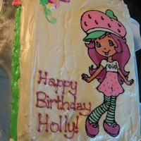 Strawberry Shortcake Fbct Cake for a friend's daughter - my first attempt with frozen buttercream transfers