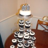 Black And White Cupcake Tower