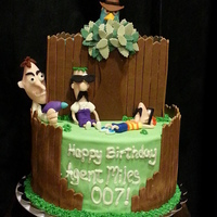 Phineas And Ferb Cake With Dr Doofenschmirtz And Perry   Phineas and Ferb cake with Dr. Doofenschmirtz, and Perry