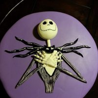 Jack Skellington Is Sculpted With Gumpaste And Hand Painted Jack Skellington is sculpted with gumpaste and hand painted