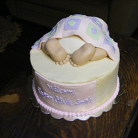 Baby Bottom   baby's bottom covered with a fondant quilt
