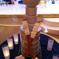 Stanley Cup Cake The Bowlcup Part And Hockey Sticks Are Made With Pastillage   Stanley Cup cake. The bowl/cup part and hockey sticks are made with pastillage.