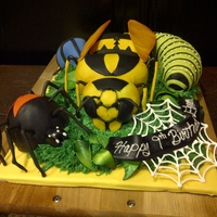 Sculpted Insect Cake For A Little Boy   Sculpted insect cake for a little boy.