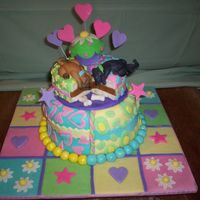 Twins Birthday Cake This was a birthday cake for identical twin sisters with very distinct personalities. About the only thing they agreed on was that they...
