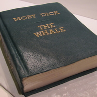 Moby Dick Moby dick cake for a guy who loves this book. I wanted it to look like the original fabric copy. I left out the author because I didn'...