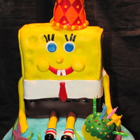 Spongbob Spongebob Cake make with layers of chocolate and peanut butter filling. Hate made of RCT, all other items made from gumpaste. Thanks for...