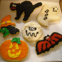 Halloween Cookies   Butter-cream frosted sugar cookies