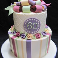 Colorful Birthday   Buttercream with fondant accents.