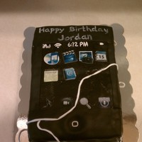 Ipod Touch   My Godson asked me to make him an iPod touch cake for his 11th birthday.