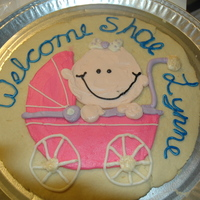 Baby Shower Cookie Cake Sugar cookie & buttercream :)