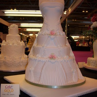 Gold Medal For This Wedding Dress Cake   I make this cake for the cake contest in Birmingham uk