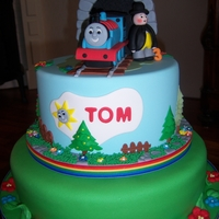 Thomas Train   Everything is made with Marzipan and fondant