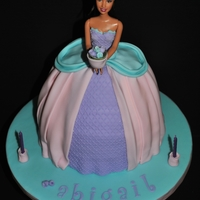 Princess Abigail Made for my niece's 2nd birthday. My first try at a barbie cake! It was definitely fun! I used the Wilton Doll pan, plus a 3 inch cake...