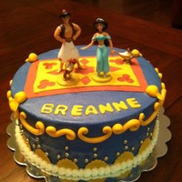 Aladdin And Jasmine Aladdin themed cake