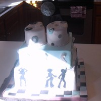 60Th Birthday Disco Cake I made this Disco theme 60th Birthday cake for a cancer survivor. The bottom tier has images of Disco Dancers, the middle tier is...