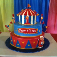 Carnival Tiwns I made this for a friend's twin boys for their 1st birthday. Thanks for all the ideas and inspiration I got from similar cake on CC.