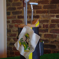 Notre Dame Golf Bag Cake The Golf bag cake was made for a rehersal dinner.