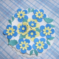 Display Cake Button Flower - Fondant