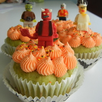 Halloween Lego Minifig Cupcakes lego minifigures made with ice cube tray mold with candy melts, details with candy melt, food writers and/or royal icing. cupcakes are...