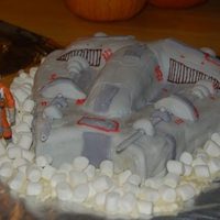 Snow Speeder My youngest insisted on a stars wars cake. So this was my attempt at a snow speeder. Chocolate cake carved for shape and fondant and...