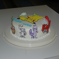 Pokemon Chocolate cake with buttercream icing and colorflow decorations.