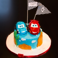 Cars Cake Chocolate cake with chocolate filling