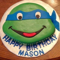Ninja Turtle Birthday Cake Ninja turtle birthday cake.