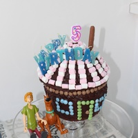 5Th Birthday Scooby Doo Cake   5th Birthday Scooby Doo cake