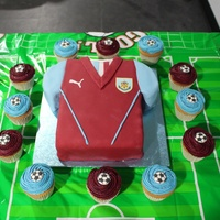 Burnley Football Cake For My Sons 5Th Birthday   Burnley football cake for my sons 5th birthday