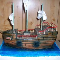 Icing Smiles pirate ship cake for a 6yr old little boy