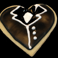 Tuxedo Cookie made with NFSC recipe, covered in Antonia's RI.