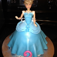 Cinderella Doll Cake This is my very first doll cake. It was actually really easy and came together rather quick
